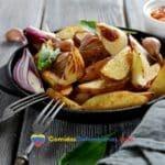 patatas al horno crujientes
